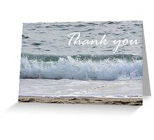 Ocean wave thank you card Greeting Card