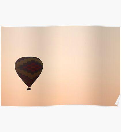 Peachy Hot Air Balloon Poster