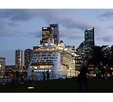 'Radiance of the Seas' in Sydney Photographic Print