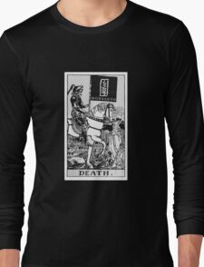 Death By Monsanto Tarot Card Long Sleeve T-Shirt