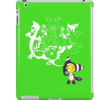Music Demon Green iPad Case (White Outline) iPad Case/Skin
