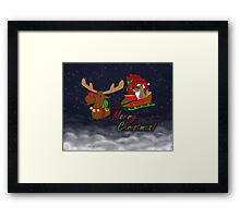 Moose and Trickster wish you a Merry Christmas! Framed Print