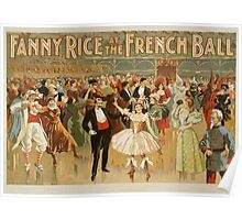 Vintage poster - Fanny Rice at the French Poster