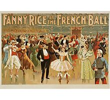 Vintage poster - Fanny Rice at the French Photographic Print