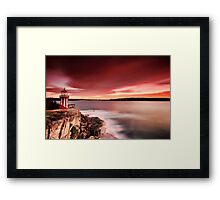 Under the Red Sky Framed Print