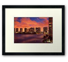 Fire Sunset Framed Print