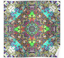 Abstract Symmetry of Colors Poster