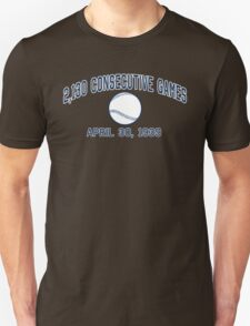 2,130 Consecutive Games T-Shirt