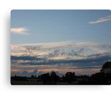 Rural skyscape Canvas Print