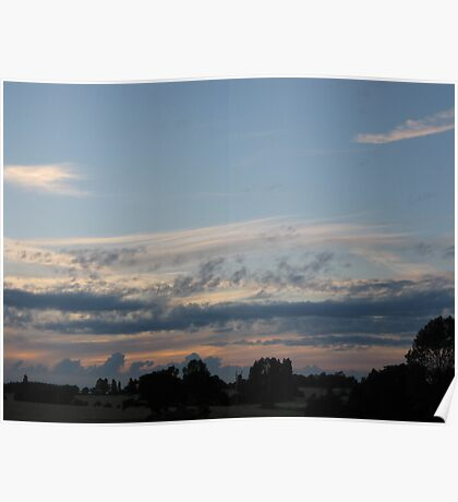 Rural skyscape Poster