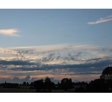 Rural skyscape Photographic Print