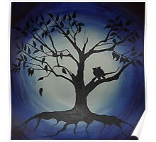 'OWLS IN THE NIGHT' Poster