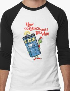 How the Grinch Stole Dr Who (on Dark) Men's Baseball ¾ T-Shirt