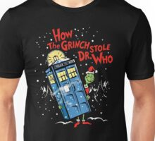 How the Grinch Stole Dr Who (on Dark) Unisex T-Shirt