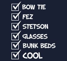 Cool Whovian Checklist - white text Kids Clothes