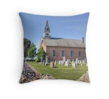 Church With The Stone Fence Throw Pillow