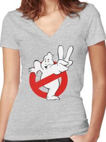 Ghostbusters 2 II Women's Fitted V-Neck T-Shirt