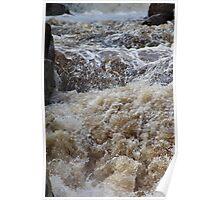 Cascades. Waterfall. Poster