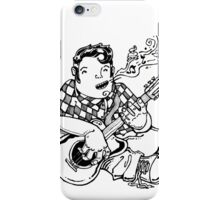 Guitar player rockabilly style iPhone Case/Skin