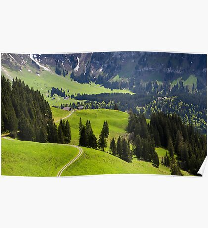 Emerald Green Valley Poster