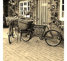 Bicycles in sepia Photographic Print