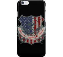 American Zombie Hunter shield iPhone Case/Skin