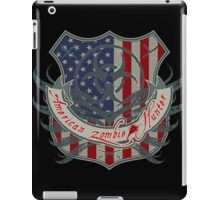 American Zombie Hunter shield iPad Case/Skin