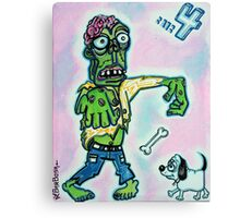 My Pet Zombie #4 - Here Boy Canvas Print