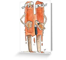 Tough Popsicles  Greeting Card