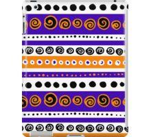 Bold swirly circular pattern iPad Case/Skin