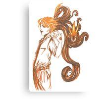 Amber Dragons Canvas Print