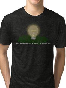 Powered by Tesla - Bulb Tri-blend T-Shirt