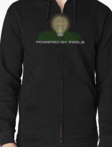 Powered by Tesla - Bulb Zipped Hoodie