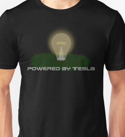 Powered by Tesla - Bulb Unisex T-Shirt