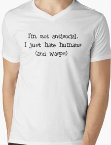 Antisocial  Mens V-Neck T-Shirt