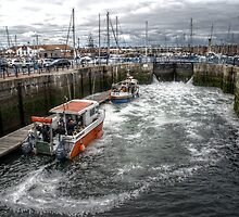 Hartlepool Marina Lock Gates by Andrew Pounder