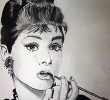 Audrey Hepburn by Brittany Ketcham