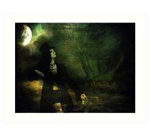 Love Moonlight Song of Vampiress Art Print