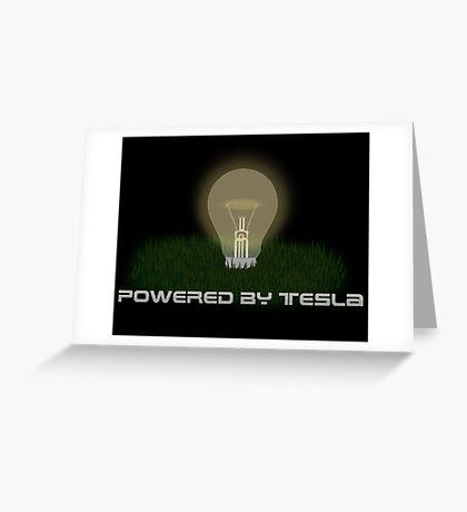 Powered by Tesla - Bulb Greeting Card