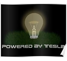 Powered by Tesla - Bulb Poster