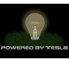 Powered by Tesla - Bulb Photographic Print