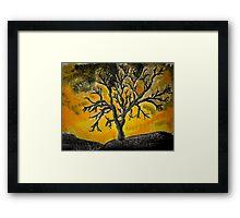 Tree Mono-type #1 Framed Print
