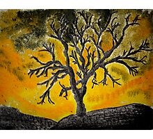 Tree Mono-type #1 Photographic Print
