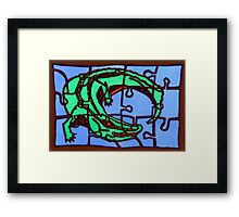 gator (pieces of the puzzle 2) Framed Print