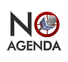 No Agenda Logo - Medium Prints and Stretched Canvas Photographic Print