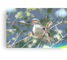 Time to sing design Canvas Print