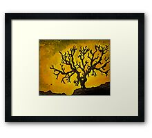 Tree Mono-type #2 Framed Print