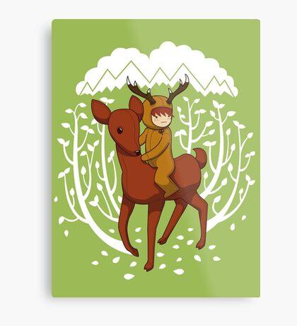 Deer Rider Metal Print