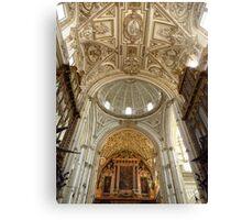 Dome, Arch & Ceiling, Mezquita, Cordoba Canvas Print