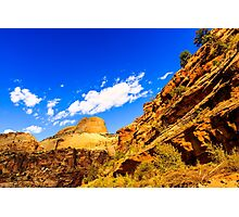 Golden Throne at Capitol Reef Photographic Print